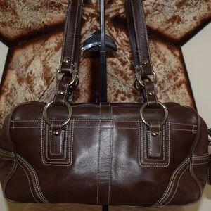 Vintage Coach Chocolate Soho Handbag